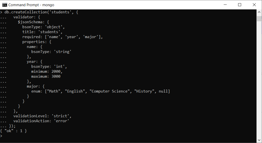 Execution of the generated script.