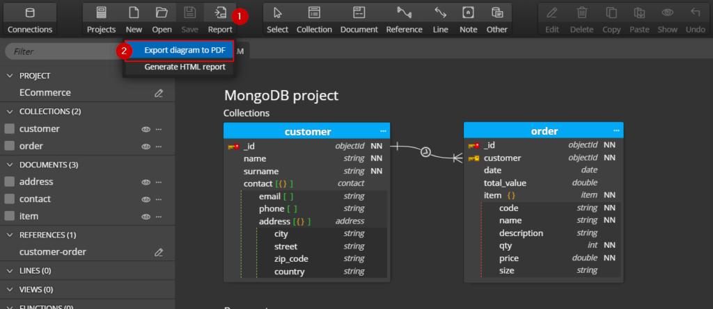 export er diagram to pdf