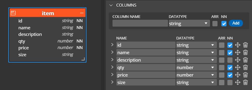 New JSON definition