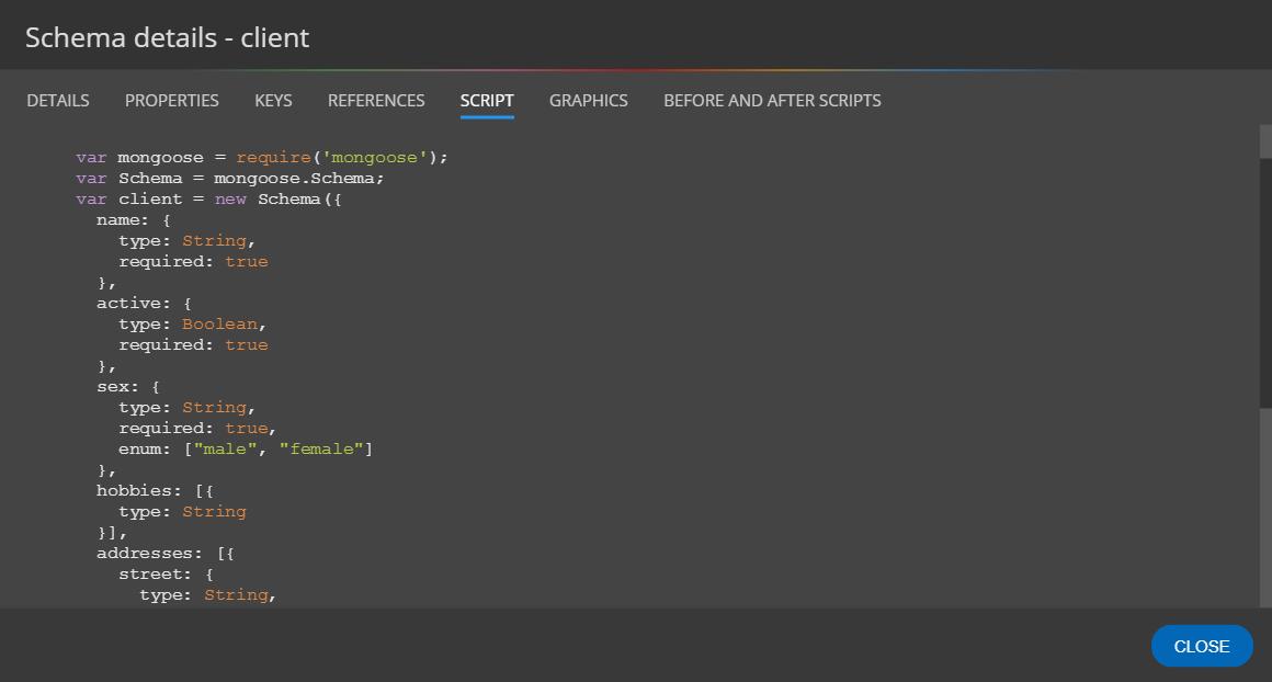 MongoDB validation script