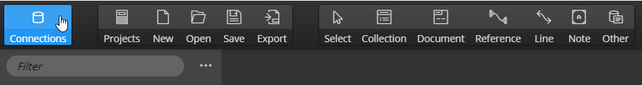 Connections - main toolbar