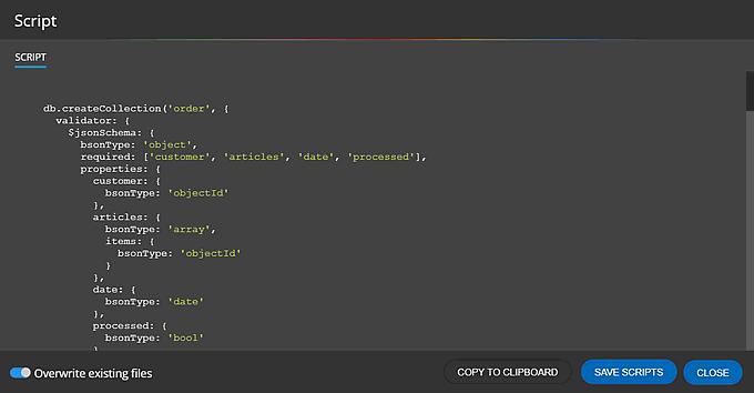 Generated schema validation script