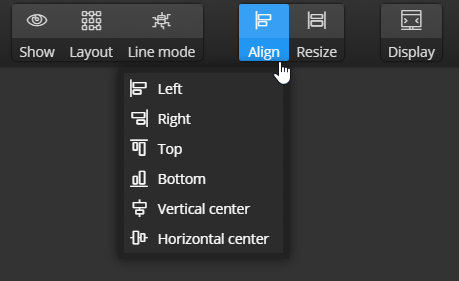 Align and resize items