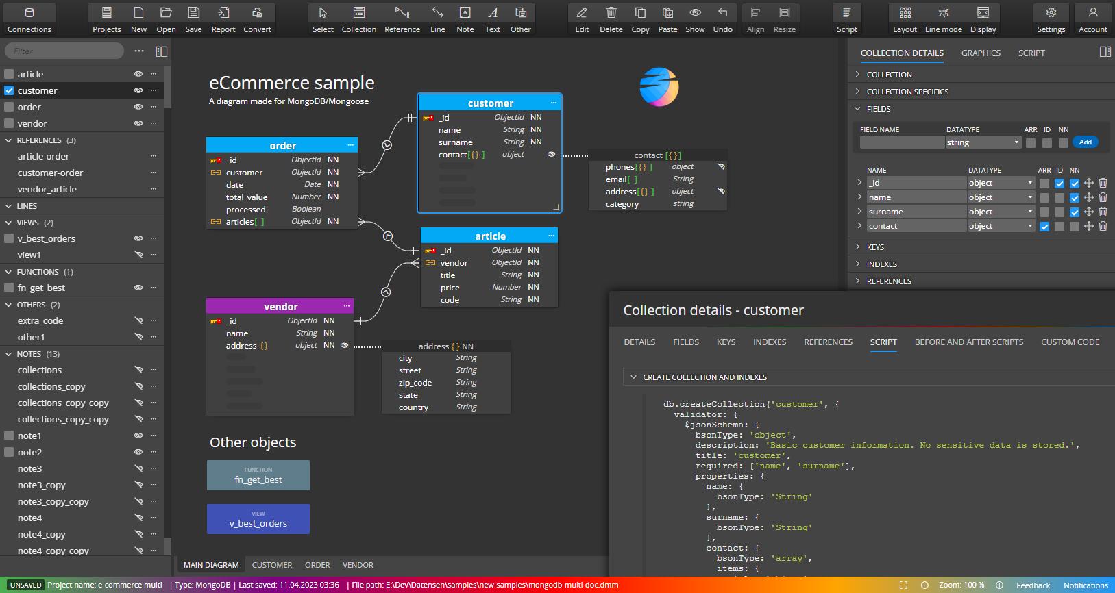 MongoDB design tool