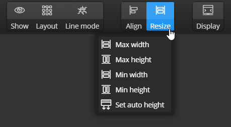 Resize items