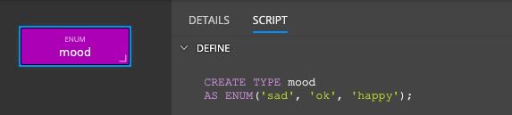 PostgreSQL enum - script