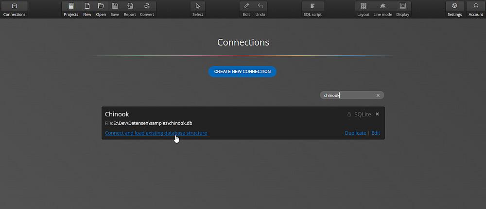 Import file - SQLite
